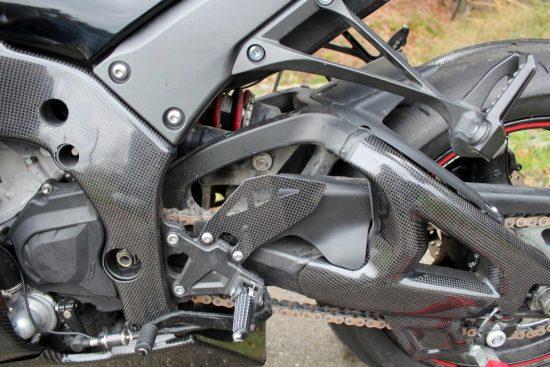 KAWASAKI ZX-10R 2011-2015 Carbon Fiber Swingarm Covers 12