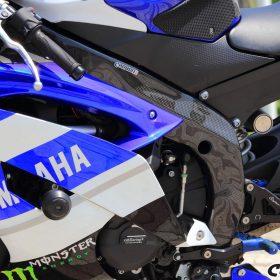 YAMAHA YZF-R6 2006-2016 Carbon Fiber Frame Covers 11