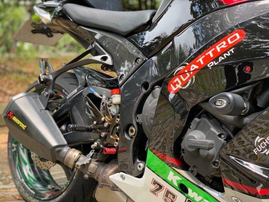 KAWASAKI ZX-10R 2011-2015 Carbon Fiber Frame Covers