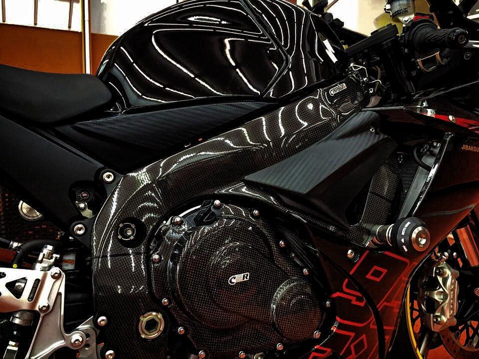 SUZUKI GSX-R 600-750 2011-2016 Carbon Fiber Frame Covers