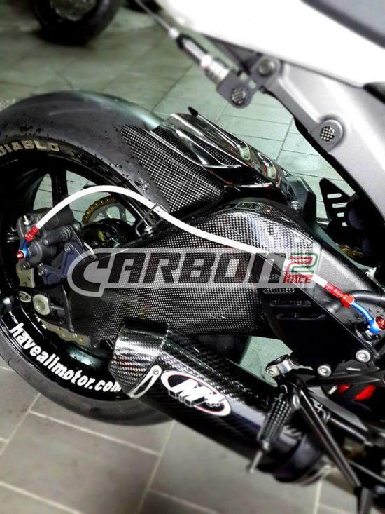 KAWASAKI ZX-6R 2009-2016 Carbon Fiber Rear Fender 8