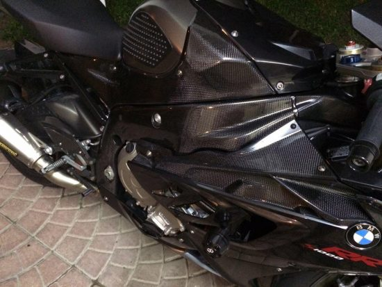 BMW S 1000RR 2012-2014 Carbon Fiber Frame Covers 11
