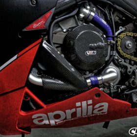 APRILIA RSV4 2009-2015 Carbon Fiber Lower Fairing Pullers 9