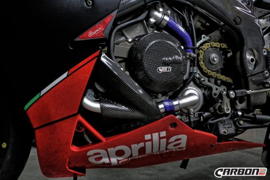 Aprilia Tuono V4R 2011-2015 Carbon Fiber Alternator Cover 2