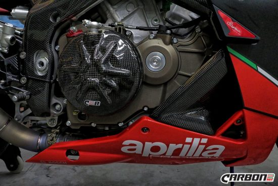 Aprilia Tuono V4R 2011-2015 Carbon Fiber Clutch Cover 3