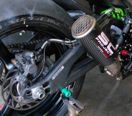 KAWASAKI ZX-10R 2016-2017 Carbon Fiber Swingarm Covers