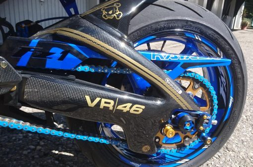 YAMAHA FZ8 2010-2015 Carbon Fiber Swingarm Covers 8