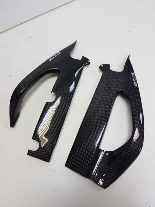 SUZUKI GSX-R 1000 2017-2018 Carbon Fiber Swingarm Covers 1