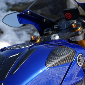 Kohlefaser Motorrad Gas /Öl Tank-Abdeckung Schutz f/ür Yamaha YZF R6 2008 2009 2010 2011 2012 2013 2014 JFG RACING YZF R6 Kraftstofftank-Schutz
