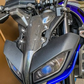 YAMAHA MT09 Carbon Fiber Headlight Cover Top Part